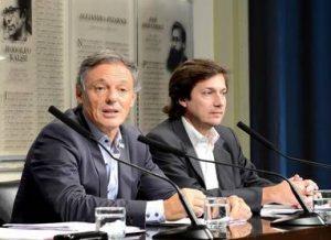 Francisco y Cabrera relanzando programa Precios Cuidados
