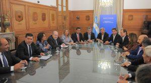 El Ministro del Interior, Obras Públicas y Vivienda, Rogelio Frigerio reunido con Gobernadores