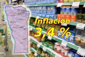 3,4% de inflación en abril en San Luis