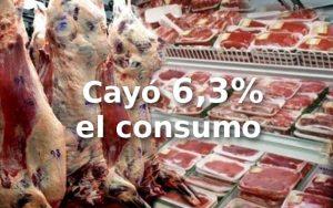 Cayó 6,3% el consumo