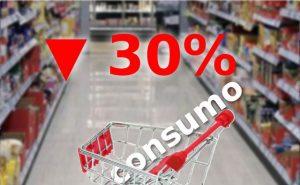 Bajó más de 30% el consumo