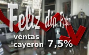Las ventas en el día del padre cayeron 7,5%