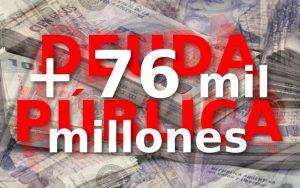 El gobierno aumentó por decreto 76 mil millones de dólares la deuda pública