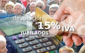 15 % delolución del IVA para jubilados
