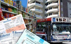 Aumentos de precios, tarifas, expensas y transporte.