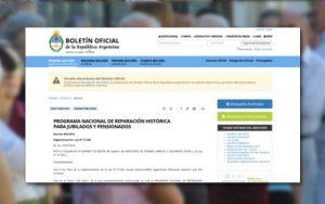 Boletín Oficial: Reglamentación Ley N° 27.260.