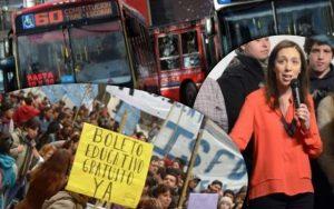 María Eugenia Vidal: boleto estudiantil gratuitoen la provincia de Buenos Aires