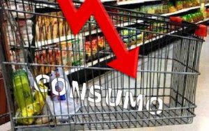 caída del consumo durante el primer semestre