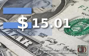 dólar sin cambios a $ 15.01