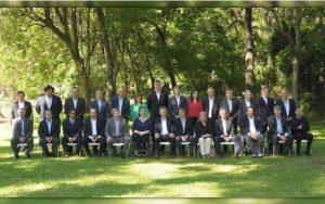 Macri y gabinete de Ministros