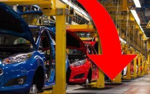 13,3% baja en julio producción automotriz