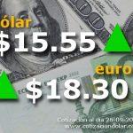 26/09/2016 sube d�lar $ 15,55 y euro $ 18,30