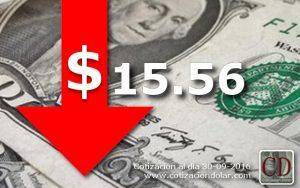 30/09/2016 baja el dólar $15,56