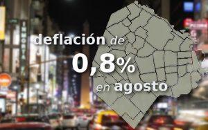 CABA: deflación de 0,8% en agosto