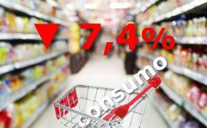 bajo consumo 7,4% en agosto