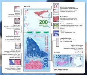Medidas de seguridad del billete de $200