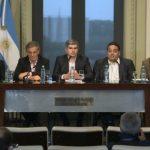 Comferencia de prensa de Ministros sobre bono de navidad