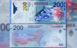 nuevo billete de $200 pesos argentinos