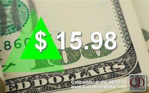 30/11/2016 sube dolar $15,98