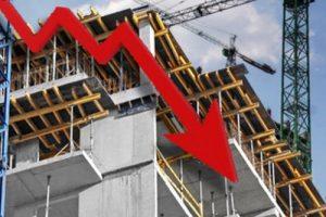 Caída en la industria de laconstrucción