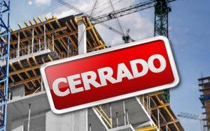 cierre de empresas de la construcción
