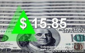 cotización dólar del 14-11-2016 a $15,85
