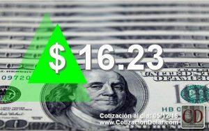 5-12-2016 sube el dolar a $16,23