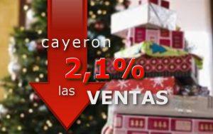cayeron 2,1% ventas en navidad