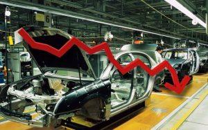 Caída de la producción de autos