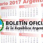 cambio calendario 2017 - Boletín Oficial