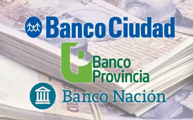 Banco Ciudad, Banco Provincia y Banco Nación