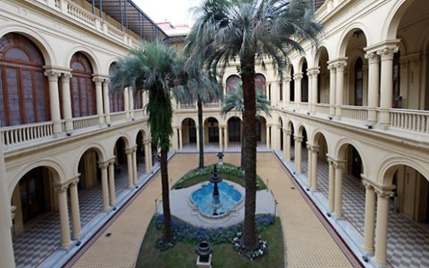 patio interior de las palmeras, Casa Rosada