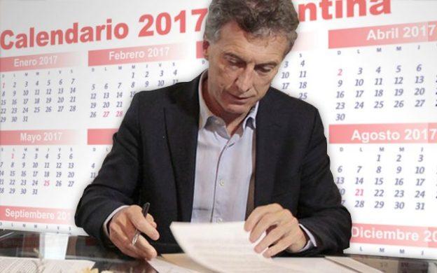 Presidente Macri firmando