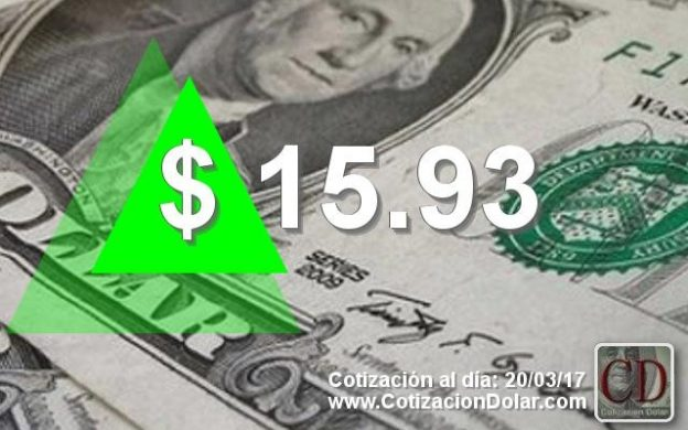 20/03/2017 sube el dólar a $15,93