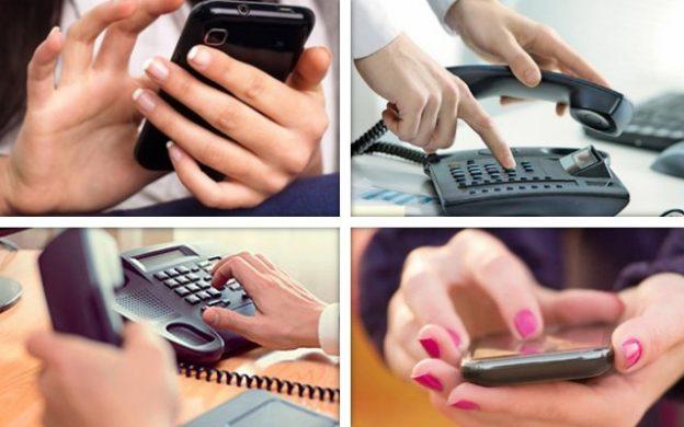 telefonía fija y móvil