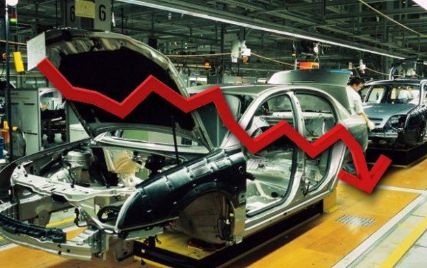 Caída de la producción automotriz