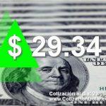 29-06-2018 sube dolar hoy $29,34