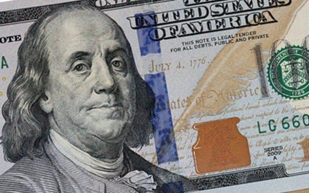 billete dólar de 100 - detalle