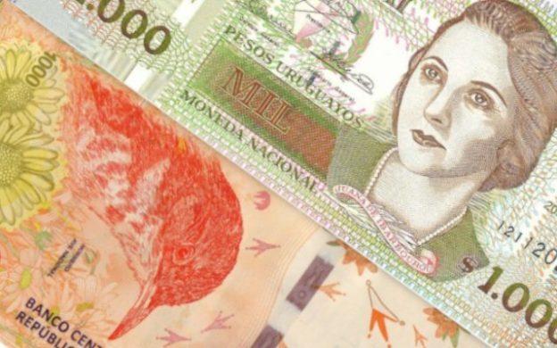 1000 pesos de Uruguay y Argentina