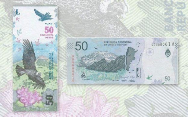 nuevo billete de $50 con la imagen del cóndor andino