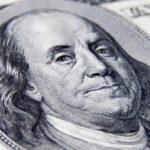 detalle dólar de $ 100
