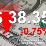 09-10-2018 baja dolar hoy a $ 38,35