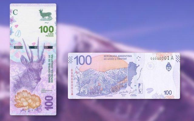 billete de 100 pesos imagen de la taruca