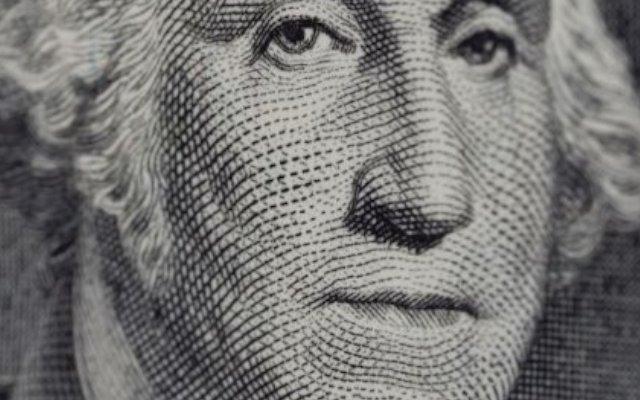 Dolar de 100 detalle cara de Washington