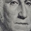 Dolar de 100 detalle cara de Washington